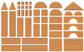 Wooden Toy Blocks Collection Set Royalty Free Stock Photos - 96754108