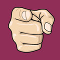 Hand Pointing Index Finger At Observer Royalty Free Stock Image - 96758346