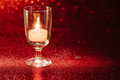 Golden Light Of Candles Burning In Wine Glass With Light Effect Royalty Free Stock Photos - 96764498