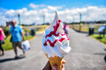 Ice Cream Wafer Cone Stock Images - 96776824