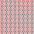 Black Red Seamless Arrow Pattern Background Royalty Free Stock Image - 96777996