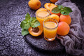 Apricot Juice. Fresh Summer Drink Royalty Free Stock Photo - 96781145