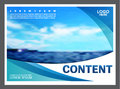 Seascape And Blue Sky Presentation Layout Design Template Background For Tourism Travel Business.  Illustration Stock Image - 96789221