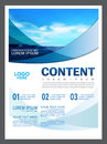 Seascape And Blue Sky Presentation Layout Design Template Background For Tourism Travel Business.  Illustration Royalty Free Stock Photo - 96789245
