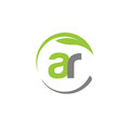Creative Letter AR With Circle Green Leaf Logo Stock Image - 96789791