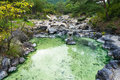 Pool With Mineral Hot Spring Water In Kusatsu Park In Japan Royalty Free Stock Photography - 96795897