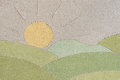 Summer Landscape Drawing In Sand Stock Photo - 96797210