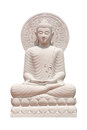 Buddha Statue Close Up Isolated Against White Royalty Free Stock Photo - 96799995