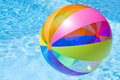Beach Ball In Swimming Pool Royalty Free Stock Photography - 9685197