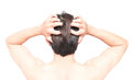 Closeup Man Hand Itchy Scalp, Hair Care Healthy Concept Royalty Free Stock Photos - 96846588