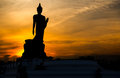 Silhouette Standing Big Buddha In Phutthamonthon Royalty Free Stock Photography - 96847257