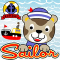 Sailor Cat Cartoon Stock Image - 96853181