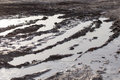 Mud Puddle On A Dirt Road Stock Photo - 96880710