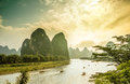 Li River By Yangshuo In China Royalty Free Stock Photography - 96895697