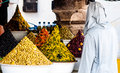 Olives On Market In Essaouira In Morocco Stock Image - 96896151