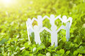 Group Of Paper People Holding Hands Together. Concept Of Social Royalty Free Stock Image - 96913936