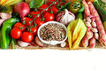 Uncooked Mixed Quinoa With Vegetables Royalty Free Stock Images - 96916819