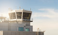 Air Traffic Control Building And Tower In A Small Airport. Royalty Free Stock Image - 96921956