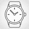 Watch Vector Icon In Line Style. Clock Flat Illustration. Simple Stock Image - 96935981