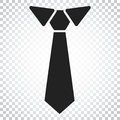 Tie Flat Icon. Necktie Vector Illustration. Simple Business Conc Stock Photography - 96936132