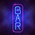 Bar Sign In Front Of A Wall Royalty Free Stock Images - 96942339