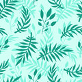 Seamless Pattern With Leaves Hand Drawn Style Vector Illustration Nature Design Floral Summer Plant Textile. Royalty Free Stock Image - 96965096