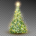 Green Abstract Christmas Tree. EPS 10 Vector Royalty Free Stock Photography - 96985157