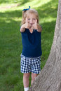 Little Girl With Thumbs Up Stock Images - 9700454