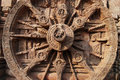 Chariot Wheel In Konark Stock Image - 9703381