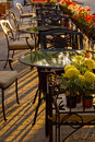 Street Cafe In The Sunlight Royalty Free Stock Images - 9709359