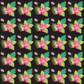 Abstract Seamless Floral Tropical Pattern Multicolor Background Royalty Free Stock Image - 97004226