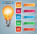 Infographic Design. Bulb, Light Icon. Royalty Free Stock Image - 97005366
