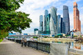 MOSCOW, RUSSIA - JULY 30: 2017:Moscow City - High Modern Futuristic Skyscrapers Of Moscow International Business Center. Stock Photo - 97024620