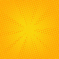 Retro Rays Comic Yellow Background. Royalty Free Stock Images - 97048449