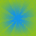 Retro Rays Comic Blue Green Background. Stock Photo - 97048540
