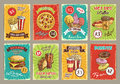 Vector Price Cards For Fastfood Meals Restaurant Stock Photography - 97061092