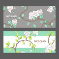 Gift Card With Blooming Roses Stock Photo - 97069410