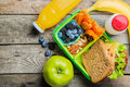 Healthy School Lunch Box Royalty Free Stock Images - 97088899