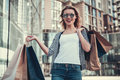 Girl Doing Shopping Stock Photo - 97091770