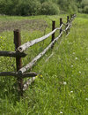 Pole Fence In The Country Stock Images - 9713134