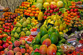 Market Fruits And Vegetables Fruit Marketplace Stall Supermarket Food Shopping Vegetable Barcelona La Boqueria Famous Place Stand. Royalty Free Stock Image - 9717276