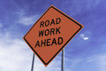 Road Work Ahead Sign Stock Photo - 97103750