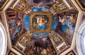 Frescoed Ceiling In The Hall Of The Muses Royalty Free Stock Photography - 97112267