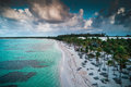 Aerial View Of Tropical Beach, Dominican Republic Royalty Free Stock Photography - 97119037