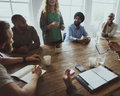 Meeting Table Networking Sharing Concept Royalty Free Stock Images - 97131939