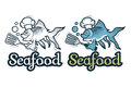 Vector Seafood Logo. Stock Image - 97138031