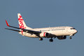 Virgin Australia Airlines Boeing 737-8FE VH-YFF On Approach To Land At Melbourne International Airport. Royalty Free Stock Photography - 97154017