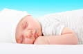 Portrait Of A Cute Newborn Sleeping Baby Royalty Free Stock Photo - 97174075