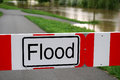 Road Blocked Due To Flood Stock Images - 97176124