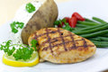 Grilled Chicken Breast With Green Beans,baked Pota Stock Photo - 9721740